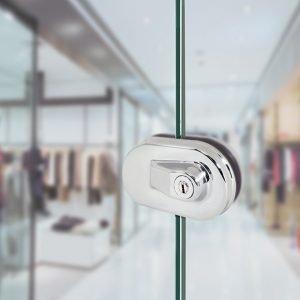 Cerraduras y cerraderos para cristal sin muescas